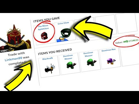 TRADING THE RAREST HAT TO THE RICHEST ROBLOX PLAYER! *80,000,000 +ROBUX VALUE*
