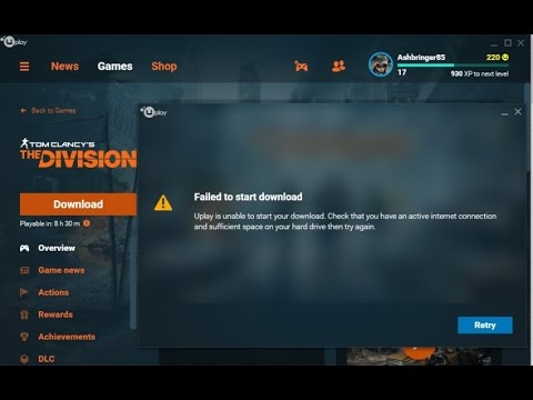 Uplay failed to download Error Fix in any game