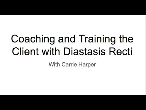 Coaching and Training the Client with Diastasis Recti Webinar