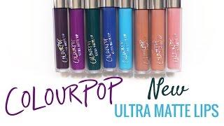 New ColourPop Ultra Matte Lip Swatches