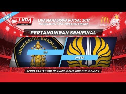 UB vs UNESA di SEMIFINAL LIMA Futsal McDonald's East Java Conference 2017 (Men's)