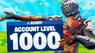 I am the FIRST EVER Level 1,000 in Fortnite! UNLOCKS & Banner