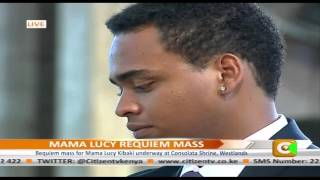 Mama Lucy Kibaki Tribute From Grandchildren At Requiem Mass