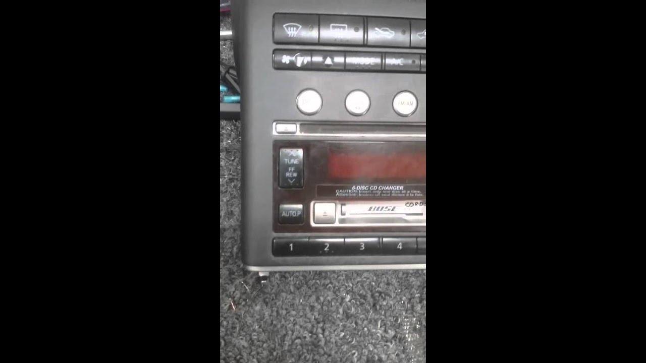 infinity g35 radio install 2003 2004 [ 1280 x 720 Pixel ]