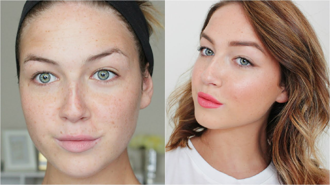flawless & natural makeup for freckles! | loveshelbey - youtube