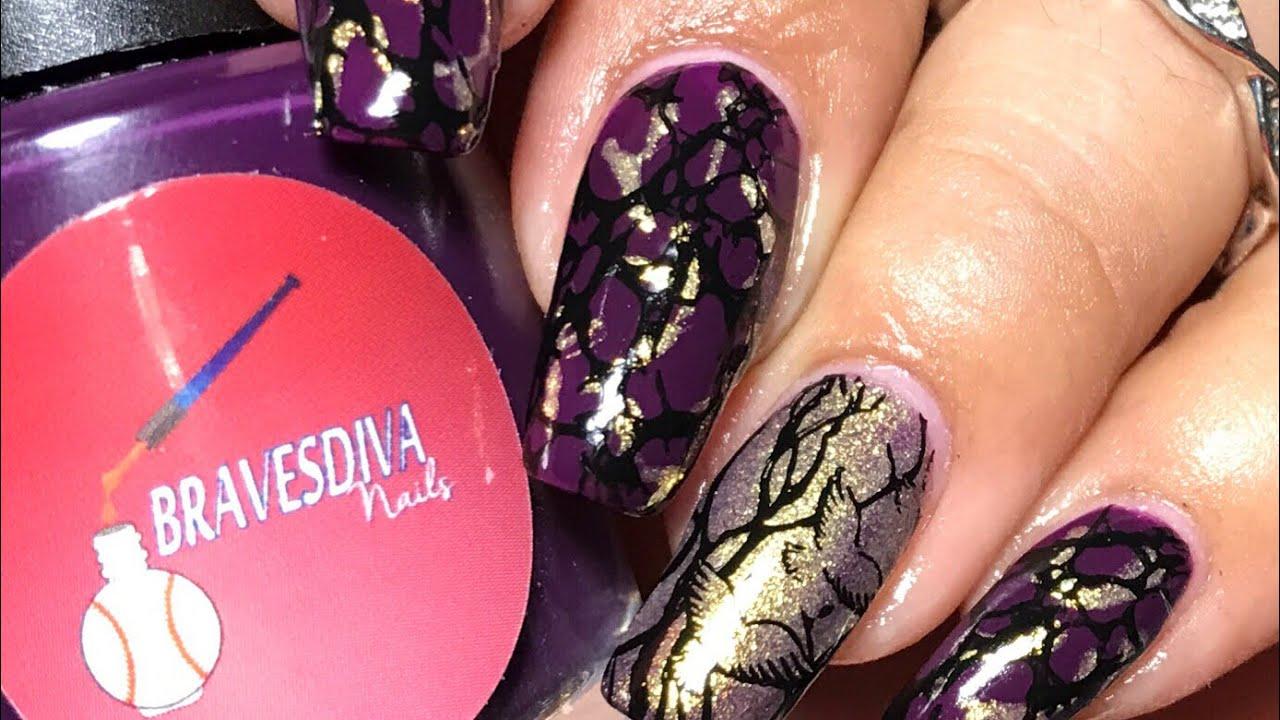 Moyra stamping | Fancy gloss | Bravesdiva polish - YouTube