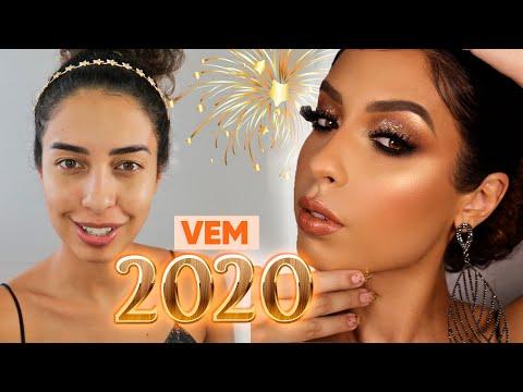 MAKE, CABELO E LOOK PARA O ANO NOVO 2020 | ARRUME-SE COMIGO ANO NOVO