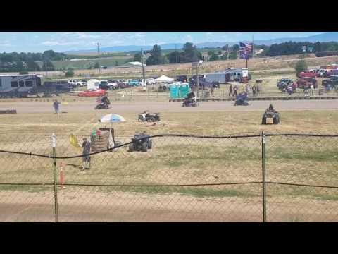 250f Outlaw Kart Racing @ Sandhollow Raceway Park,  Idaho. #2 Riley P. ; Main Event Winner.