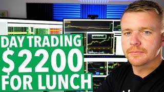 DAY TRADING LIVE! $2200 PROFIT FOR LUNCH! SAEX!