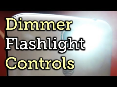 Adjust The Brightness Of The LED Flash - Flashlight App - Samsung Galaxy Note 2 [How-To]