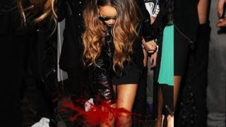 Cover images Rihanna Bleeding after ATTACKED by a Fan - Exclusive Footage!