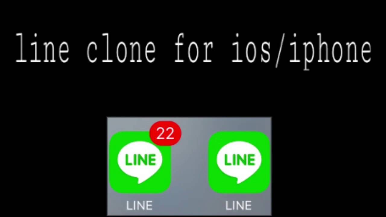 cara membuat line clone di ios / iphone ( no jailbreak ❌ ) - YouTube