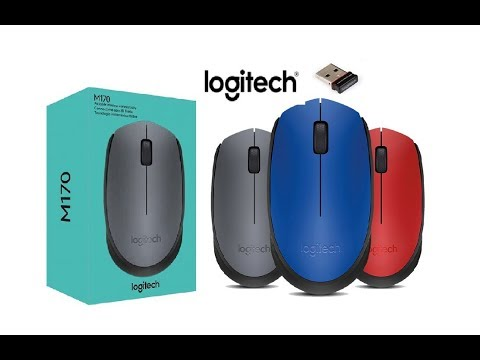 Logitech M170 Wireless Mouse Unboxing , Plug & Play  - YouTube