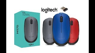 Logitech M170 Wireless Mouse Unboxing , Plug & Play.
