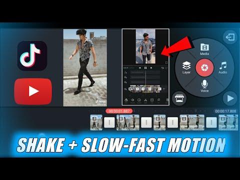 🔥PERFECT SHAKE + SLOW-FAST MOTION TRANSITION TUTORIAL   TIKTOK SHAKE EFFECT   SLOW MO TUTORIAL APP