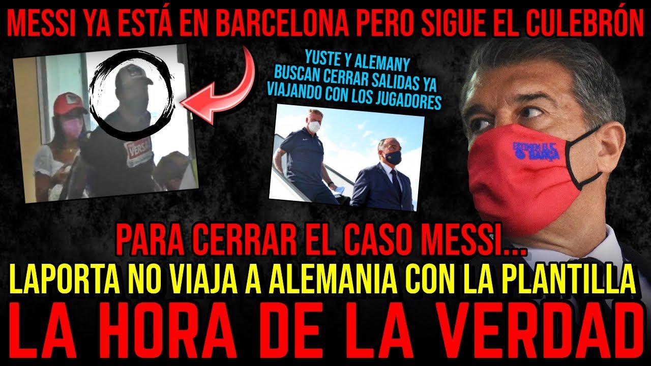 🚨🤝 MESSI YA ESTÁ EN BARCELONA Y LAPORTA LE ESPERA: SEMANA CLAVE PARA LEO, GRIEZMANN, PJANIC, NETO...