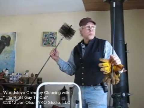 How To Clean Your Woodstove Chimney Youtube