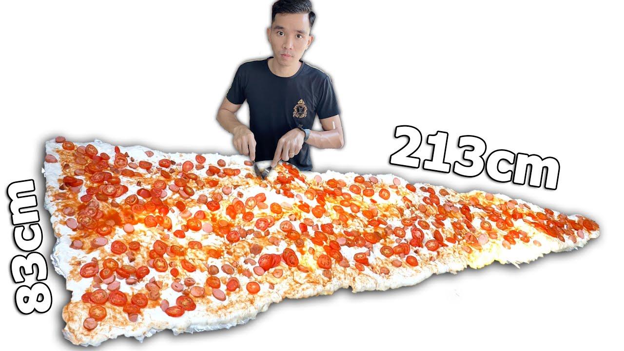 Ăn Miếng Pizza Lớn Nhất Thế Giới   Eating The World's Largest Slice Of Pizza    PHD Troll