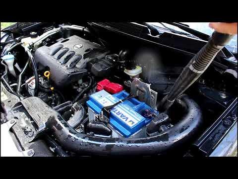 Как я мою свой двигатель на Ниссан Кашкай 2008 Nissan QASHQAI 2,0