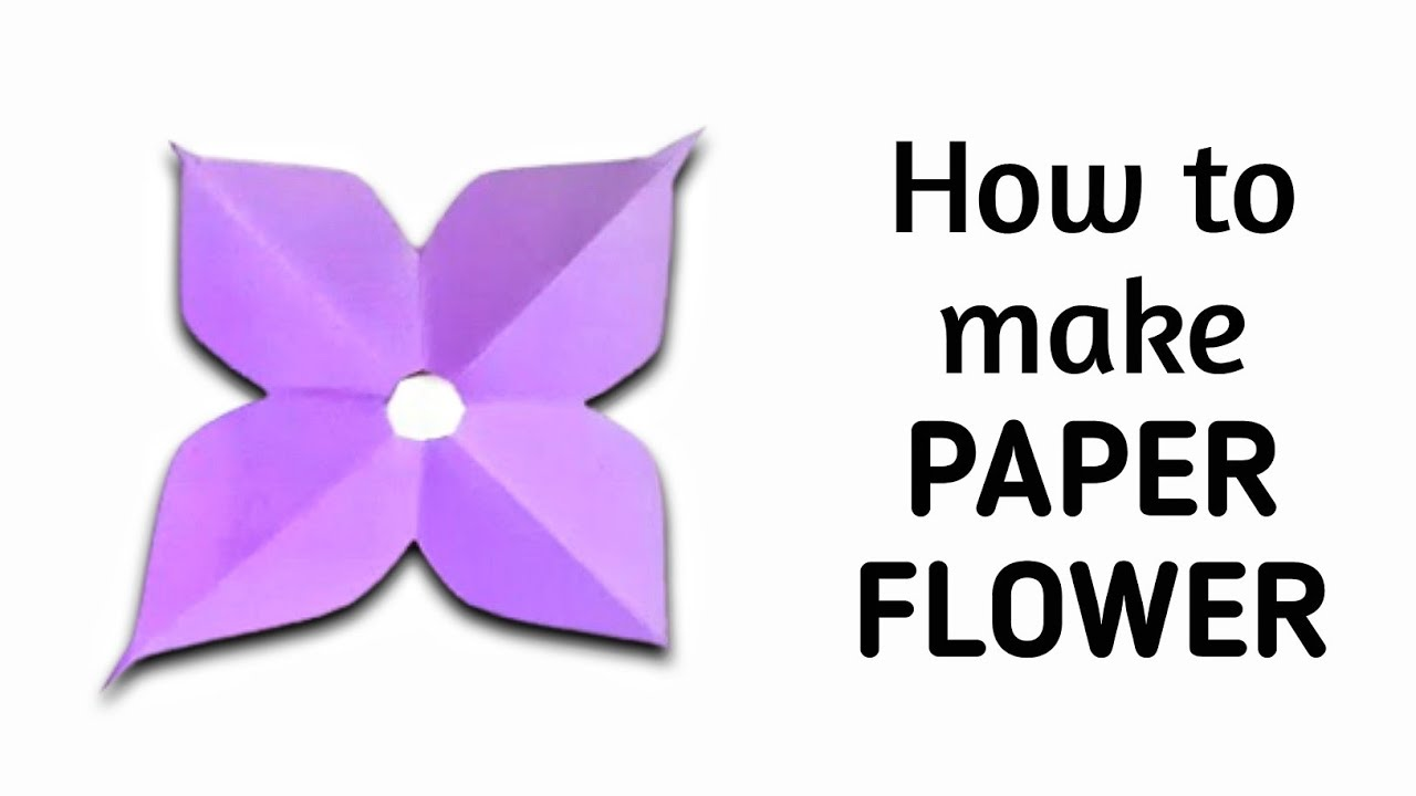 How to make simple easy paper flower 4 kirigami paper how to make simple easy paper flower 4 kirigami paper cutting craft videos tutorials youtube mightylinksfo