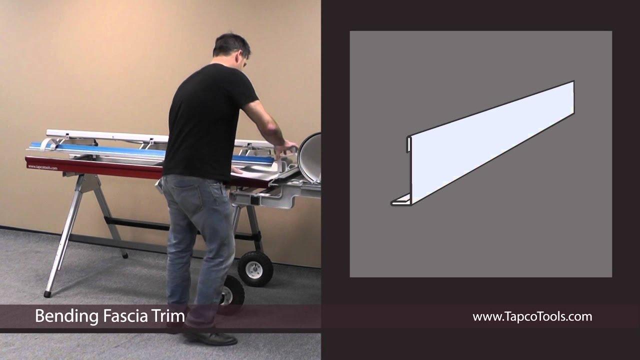 Bending Fascia Trim Youtube