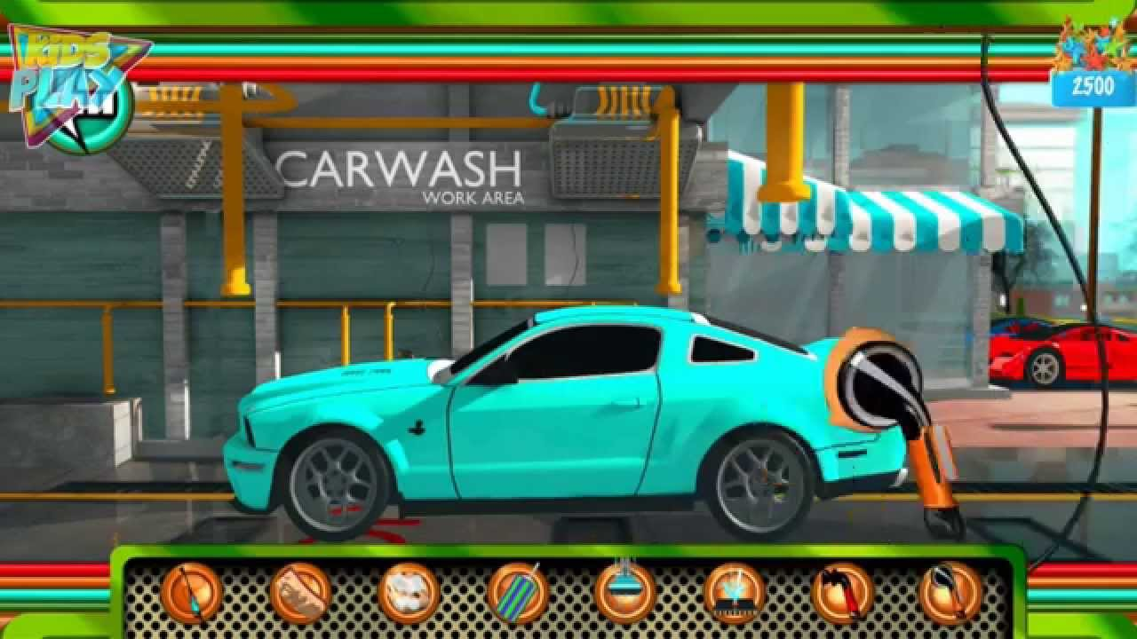 ford mustang car wash games for kids