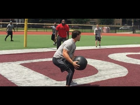 THE BEST DRILL FOR POWER ATHLETES - Med Ball Volleyball - DeFranco Voiceover