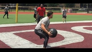 Gambar cover THE BEST DRILL FOR POWER ATHLETES - Med Ball Volleyball - DeFranco Voiceover