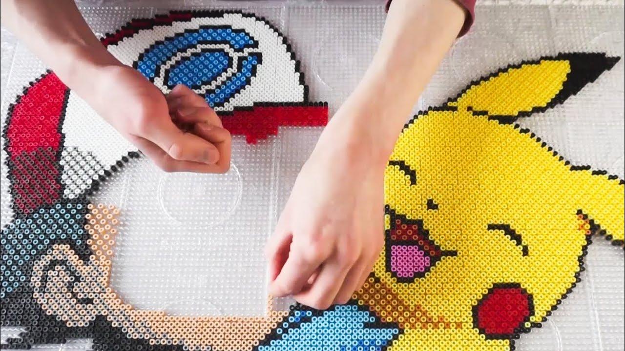 Pokémon Pixel Art - ASH & PIKACHU (Perler Beads)