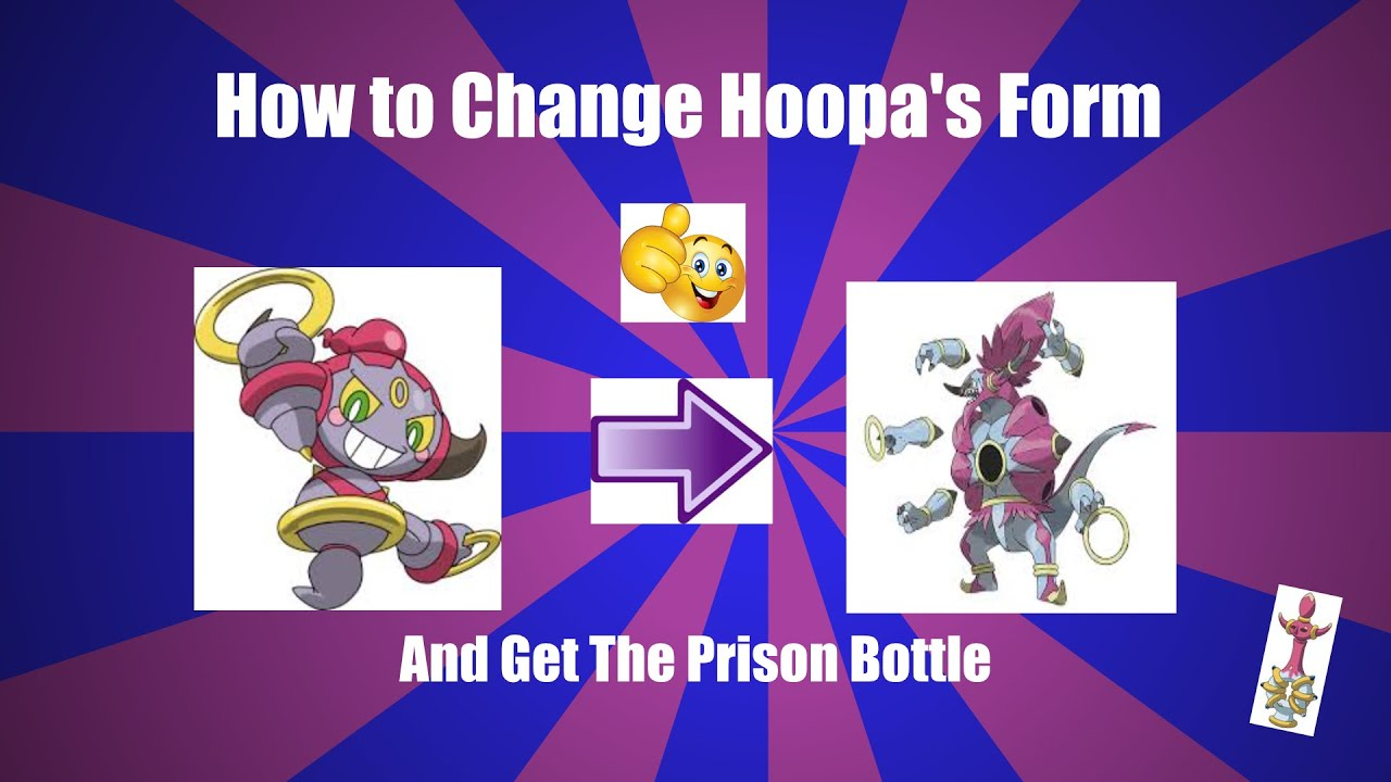 Pokemon ORAS how to change Hoopa form with the prison bottle ...