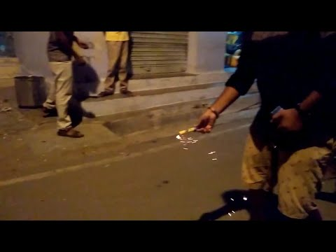 Diwali Celebration In Street With Friends | Crackers Game
