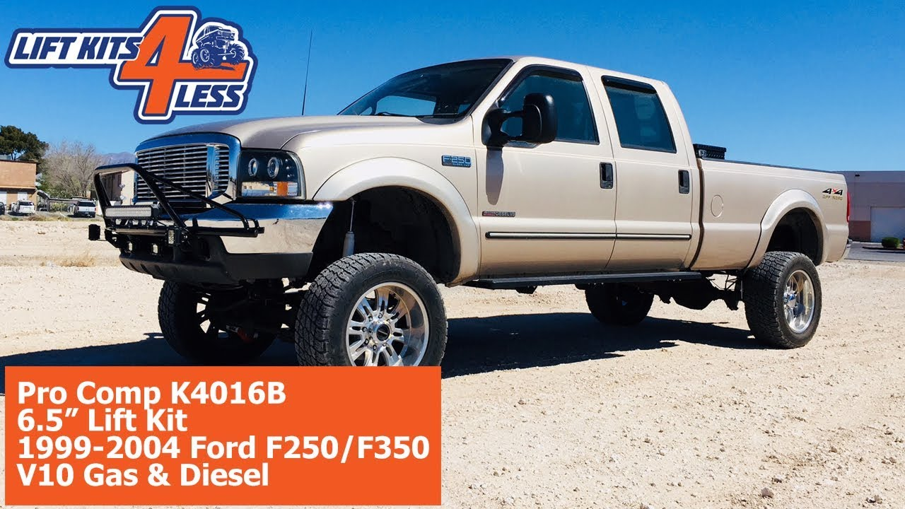 small resolution of pro comp 6 5 suspension kit k4016b ford 1999 2004 f 250 f350 v 10 gas diesel