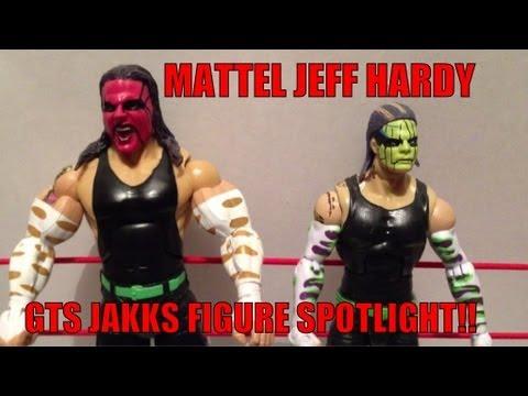 WWE JAKKS SPOTLIGHT: Jeff Hardy wrestling action figure Mattel comparison review