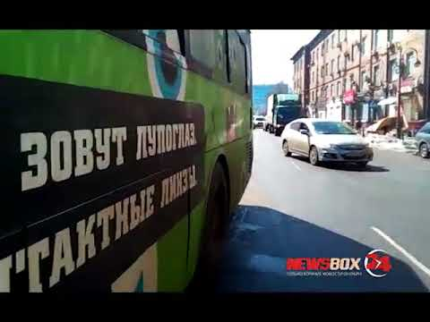 Во Владивостоке столкнулись три пассажирских автобуса