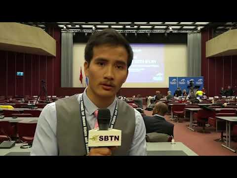 PHÓNG SỰ CỘNG ĐỒNG: Con trai Mục Sư Nguyễn Trung Tôn thuyết trình ở Thượng Đỉnh Nhân Quyền & Dân Chủ