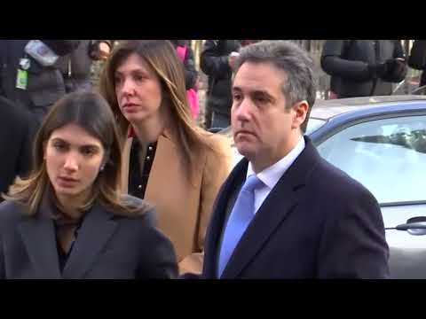 Ex-Trump lawyer Michael Cohen arrives for sentencing