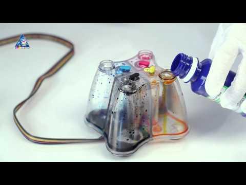 видео: Промывка СНПЧ при смене чернил