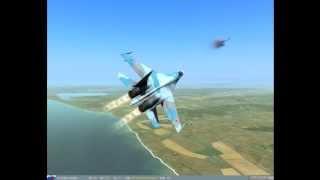 Воздушный бой су-27 vs F-15 (DCS ГС 3)