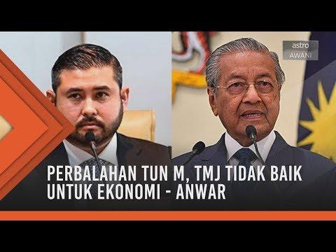 Perbalahan Tun M, TMJ tidak baik untuk ekonomi - Anwar