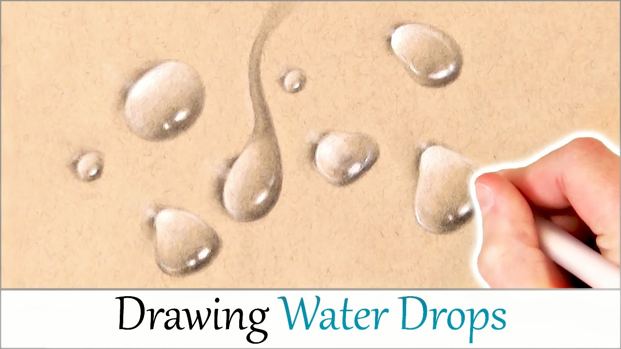 How to draw realistic water drops easy step by step drawing tutorial for beginners