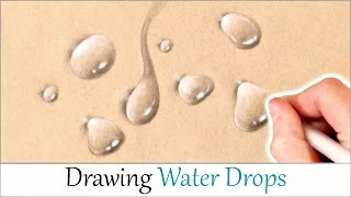 HOW TO DRAW REALISTIC WATER DROPS! Easy Step By Step Drawing Tutorial For Beginners