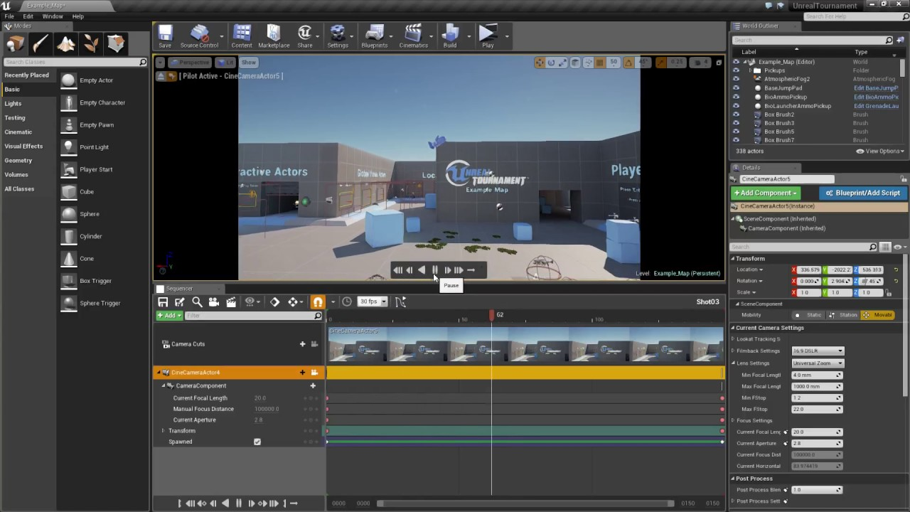 Unreal Tutorial: How to create a movie to present your level using Sequencer