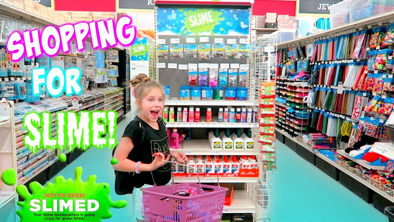 Shopping For Slime At Michaels Headquarters DIY