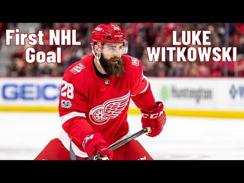 Luke Witkowski #28 (Detroit Red Wings) first NHL goal 17.02.2018