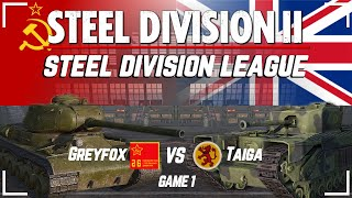 Division 2 Playoff FINALS | Game 1 | $800 Steel Division League Competitive Tournament | WW2 RTS
