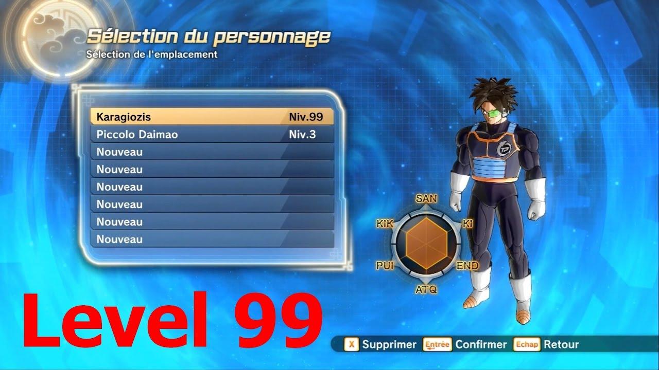 Dragonball Xenoverse 2 Level 99 (Cheats) vs Level 80 (Max Level) Comparision
