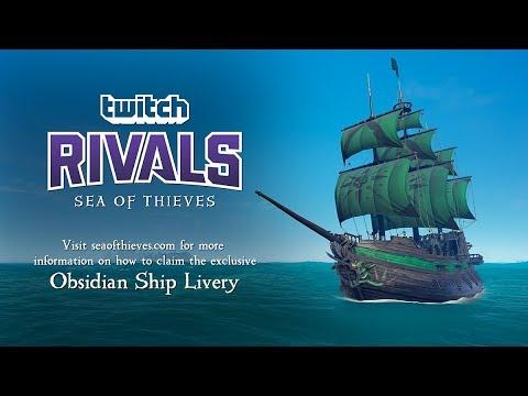 За просмотр Twitch Rivals по Sea of Thieves можно получить подарки