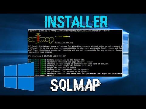 INSTALLER SQLMAP SUR WINDOWS 10 (OUTILS KALI LINUX)