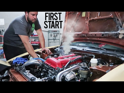 Built SR20DET Install & First Start