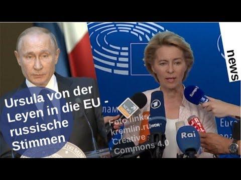 Ursula von der Leyen in die EU: Russische Stimmen